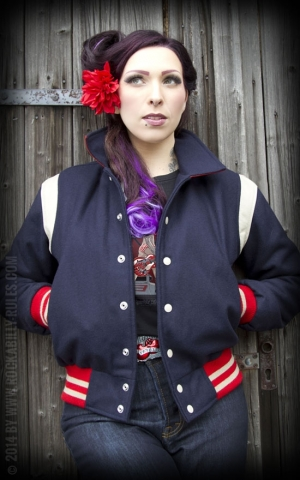 Lady Baseball Jacket - Deep Blue-