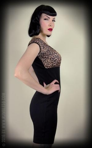 Rumble59 Ladies - Carmenkleid - Hot Leopard