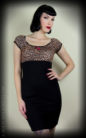 Rumble59 Ladies - Carmenkleid - Hot Leopard