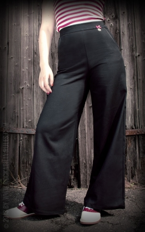 Ladies Marlene Pants in noir - by Rumble59
