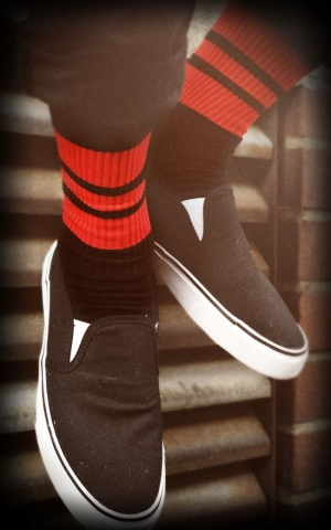Lo Skatersocken HotRod Oldschoolsocks - The Peperonis