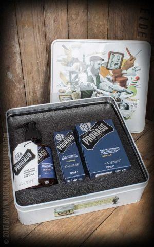Proraso Bartpflege Set mit Balsam, Öl und Reiniger, Azur Lime