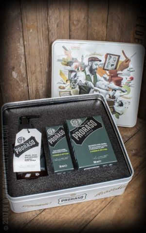 Proraso Beard care set with balm, oil and cleanser, Cypress & Vetyver