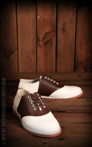 Rumble59 - Saddle Shoes for Ladies- Red Wine