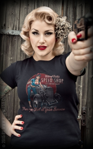Rumble59 - Hotrod Bettys Speed Shop - Ladies T-Shirt