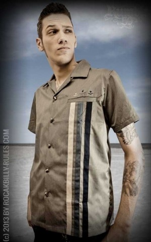Rumble59 - Lounge Shirt - Three Crowns - grey