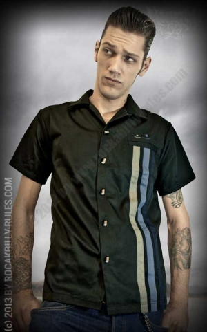 Rumble59 - Lounge Shirt - Three Crowns - black