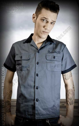 Rumble59 - Bowling Shirt - Piston Pete - blue