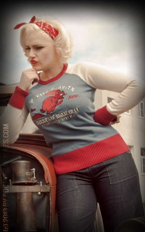 Rumble59 - Ladies Racing Sweater - Racing Rabbits