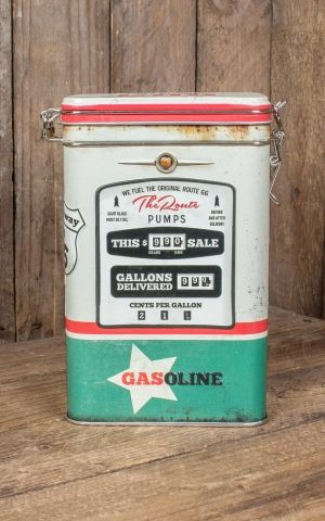 Coffee storage tin - Route 66 Gas Station