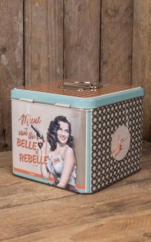 Cosmetic Cotton storage tin - Belle et Rebelle