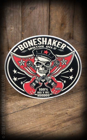 Sticker - Boneshaker Motor Oils - by Vince Ray