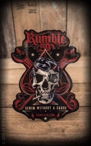 Rumble59 - Autocollant Denim without a cause
