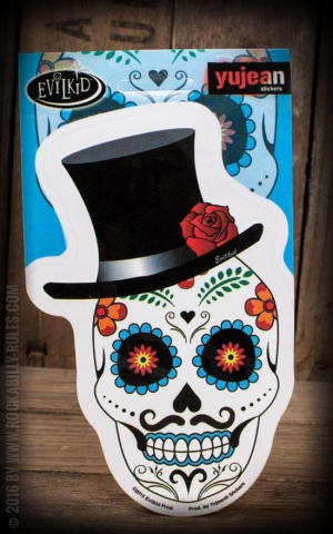 Sticker El Catrin Sugar Skull by Evilkid