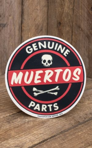 Aufkleber Genuine Muertos Parts by Kruse