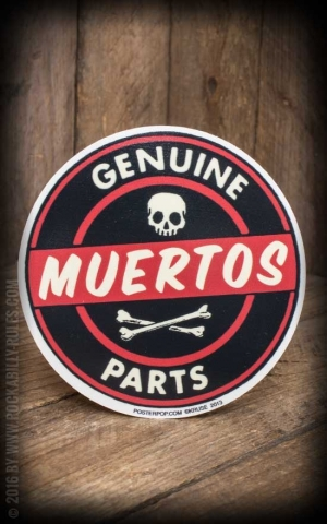 Autocollant Genuine Muertos Parts by Kruse