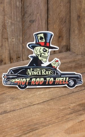 Sticker Vince Ray Hotrod to Hell