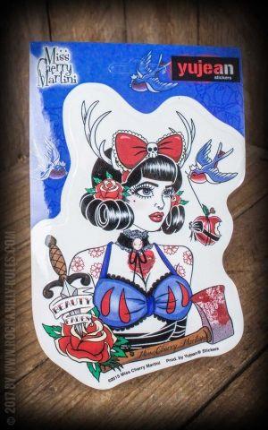 Aufkleber Snow von Miss Cherry Martini