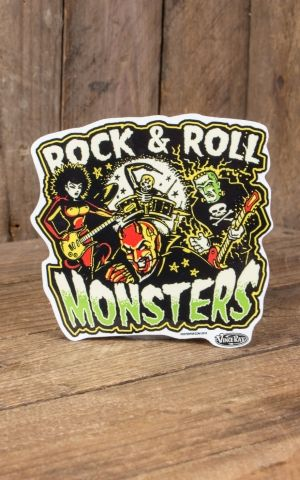 Aufkleber Vince Ray Rock and Roll Monsters