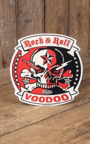 Aufkleber Vince Ray Rock and Roll Voodoo