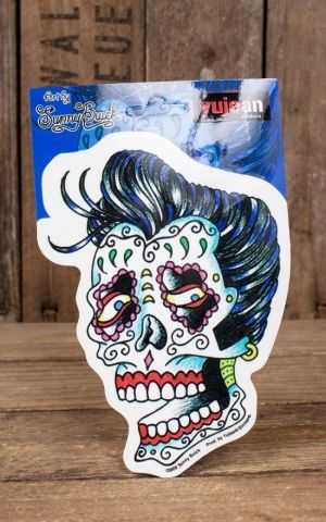 Sticker Rockabilly Sugar Skull by Sunny Buick