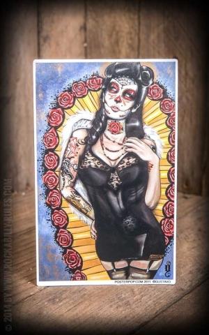 Aufkleber - Rose Doll Los Muertos