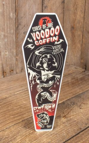 Sticker Vince Ray Voodoo Coffin