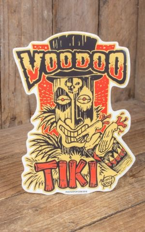 Sticker Vince Ray Voodoo Tiki