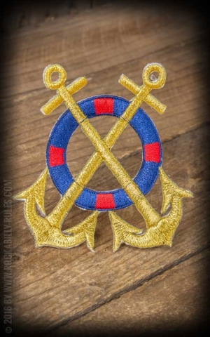 Patch - Anchor and rescue ring | Ahoy Sailor!