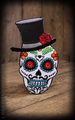 Patch Evilkid Sugar Skull El Catrin
