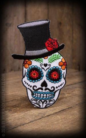 Aufnäher Evilkid Sugar Skull El Catrin