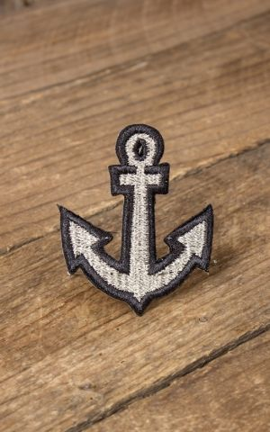 Patch - Nautical Anchor, silver