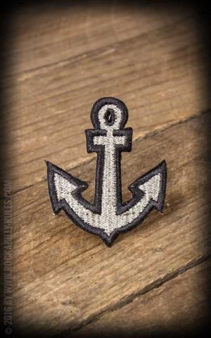 Aufnäher - Nautical Anker, silber