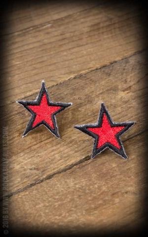Aufnäher - Nautical Stars, rot schwarz
