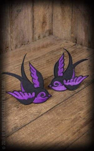 Patch - Oldschool swallow, purple black