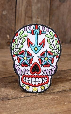 Aufnäher Sunny Buick Anker Sugar Skull
