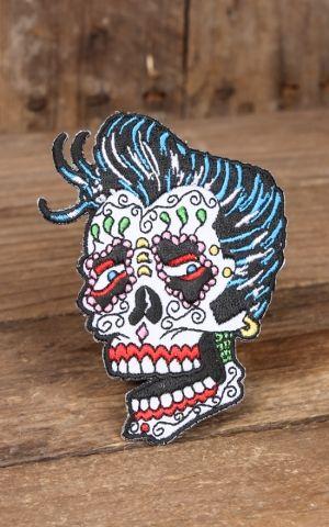 Aufnäher Sunny Buick Rocker Rockabilly Sugar Skull