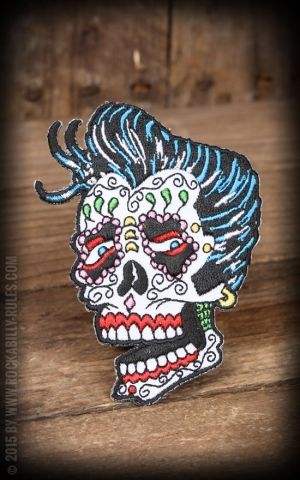 Patch Sunny Buick Rocker Rockabilly Sugar Skull