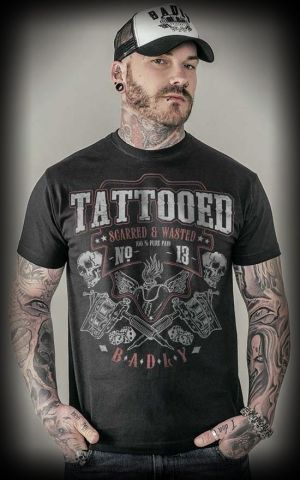 T-Shirt - Tattooed Scarred and Wasted
