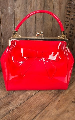 Banned Handbag American Vintage with bow, red