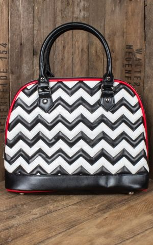 Banned Handbag Chevron Stripe