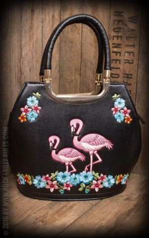 Banned Handbag Flamingo, black