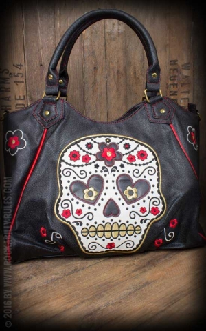Banned Handbag - Sugar Skull
