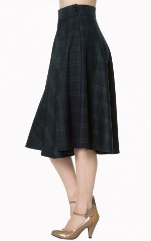 Banned Swing Petticoat Circle Skirt Scotish Vichy