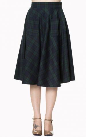 Banned Swing Petticoat Circle Skirt Scotish Vichy