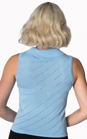 Banned - Top en tricot Its a wrap Piontelle, bleu clair