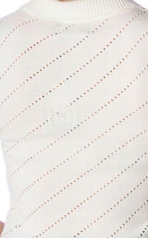 Banned - Top en tricot Its a wrap Piontelle, blanc cassé