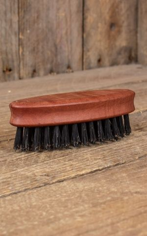 Beard brush elliptical with pure wild boar bristles