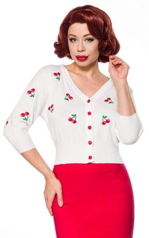 Belsira Vintage cardigan with cherry embroideries
