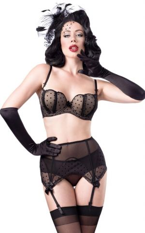 Belsira Lingerie Set Burlesque, 4 pieces